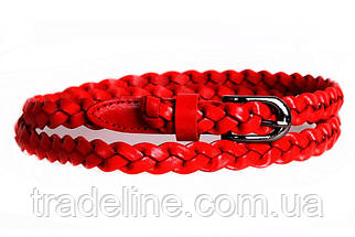 Женский узкий ремень Dovhani кт6721533 105-115 см Красный, фото 3