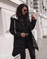 Куртка женская теплая ЗИМА батал по 58 размер  впр103, фото 1