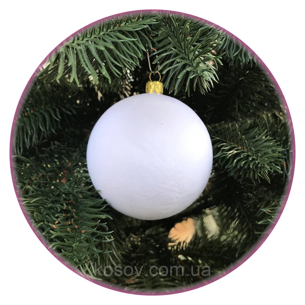 "Набор елочных шаров ""Бархат"" (80мм, белый)"