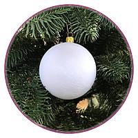 """Набор елочных шаров """"Бархат"""" (80мм, белый), фото 1"""