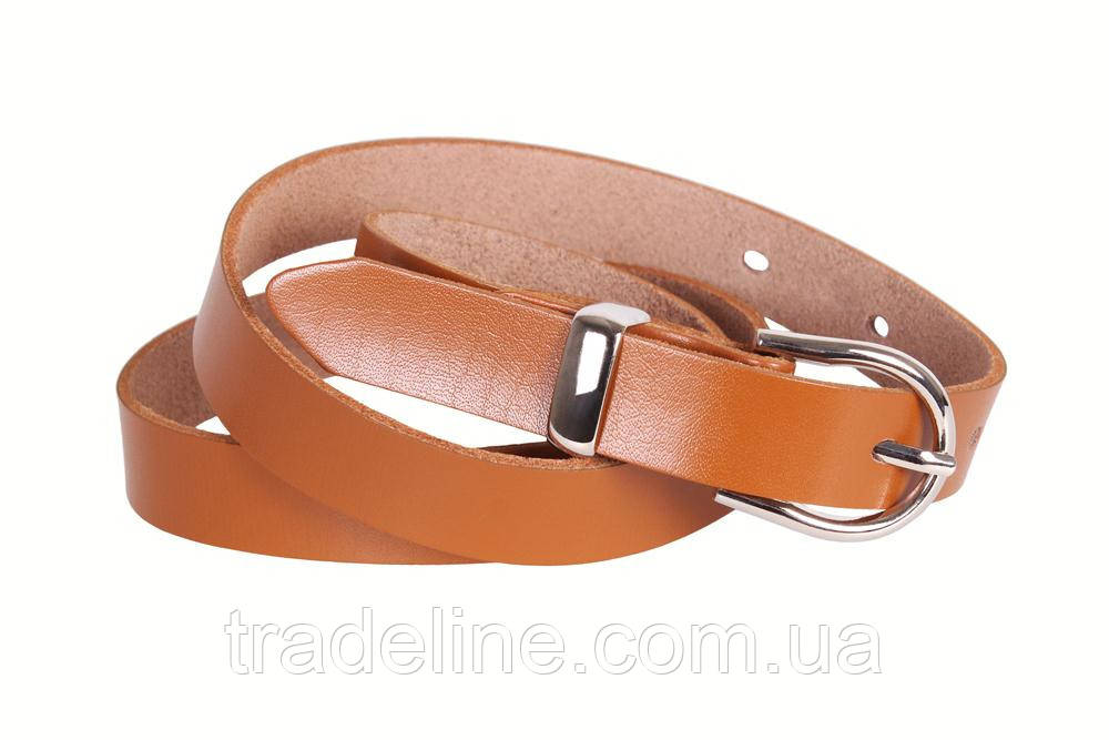 Женский узкий ремень Dovhani кт220732549 105-115 см Рыжий