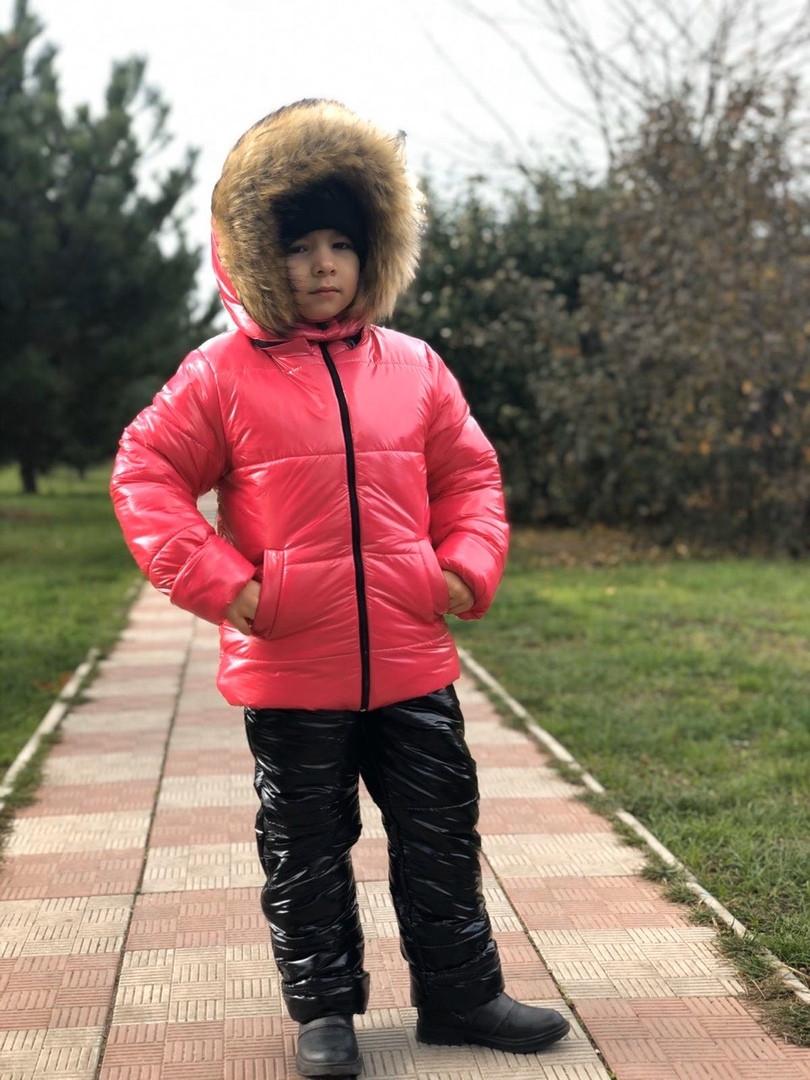 Костюм зимний на овчине куртка+комбинезон мальчику и девочке Рост;98;104;110;116;122