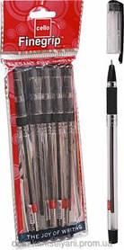 Ручка Масляная 0.5 мм Cello Finegrip черная