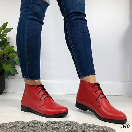 Красные кожаные ботинки, фото 2