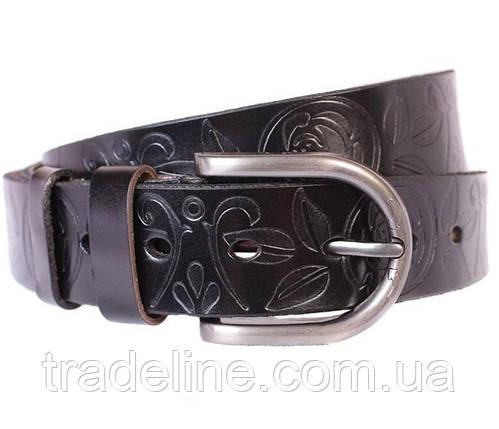 Женский кожаный ремень Dovhani 301126572 110-115 см Черный, фото 2