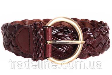 Женский плетеный ремень Dovhani PL4380573 110-115 см Темно-Коричневый