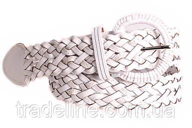 Женский плетеный ремень Dovhani PL4388574 110-115 см Белый