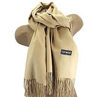 Женский кашемировый шарф LuxWear Бежевый