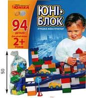 Конструктор Юника 0125 Юник-Блок 94 деталей Блочный