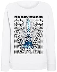 """Женский свитшот Rammstein """"Paris"""" (белый)"""