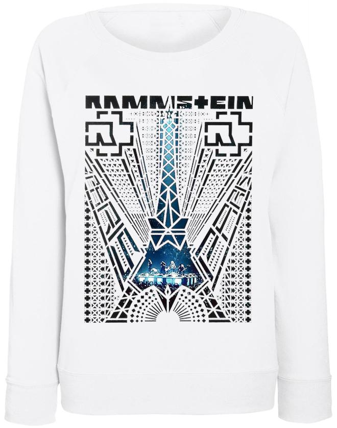 """Жіночий світшот Rammstein """"Paris"""" (білий)"""