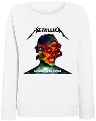 """Женский свитшот Metallica """"Hardwired...To Self-Destruct"""" (белый)"""