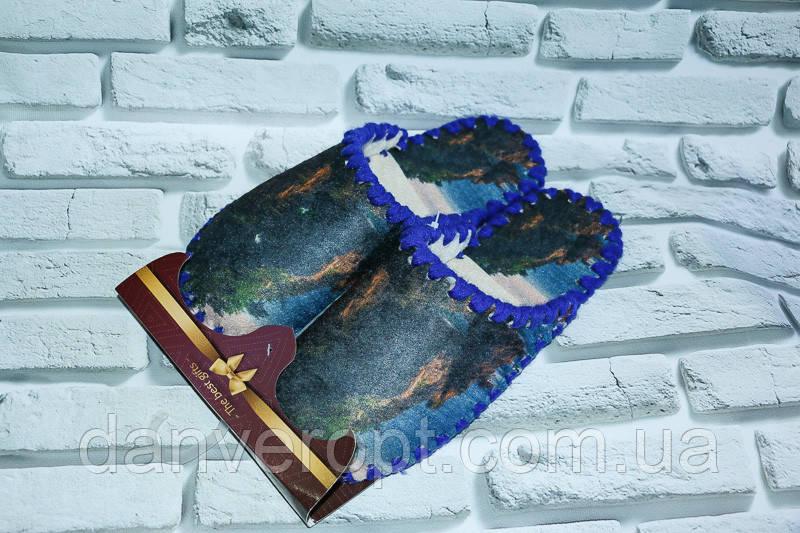 Тапочки домашние женские стильные размер 36-41 купить оптом со склада 7км Одесса