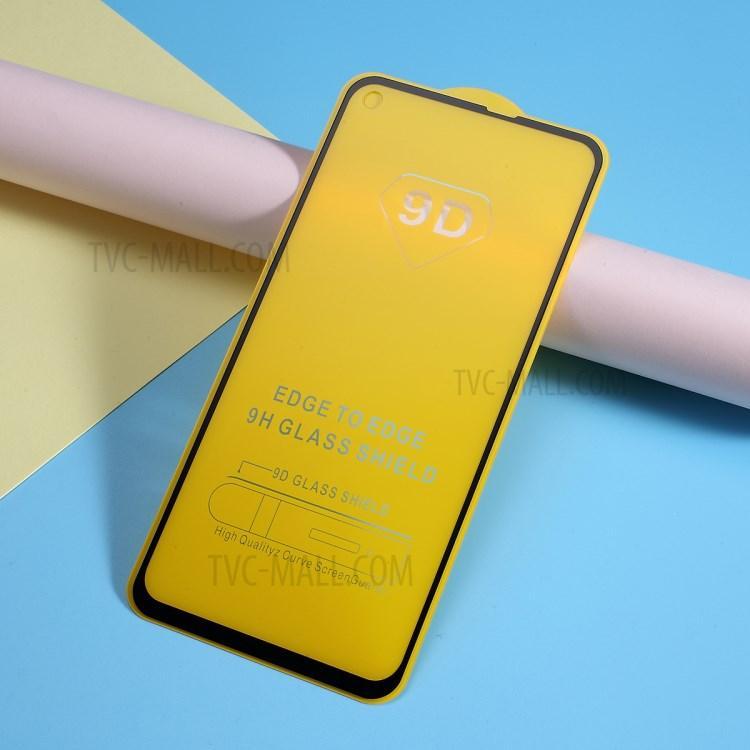 Защитное стекло 9D Samsung Galaxy A60 полная проклейка твёрдость 9H захисне скло