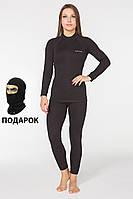 Женское повседневное термобелье Radical Black Iron. Комплект термобелья + балаклава в подарок!
