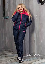 Костюм зимний женский на овчине куртка+штаны Размеры:48. 50.52.54.