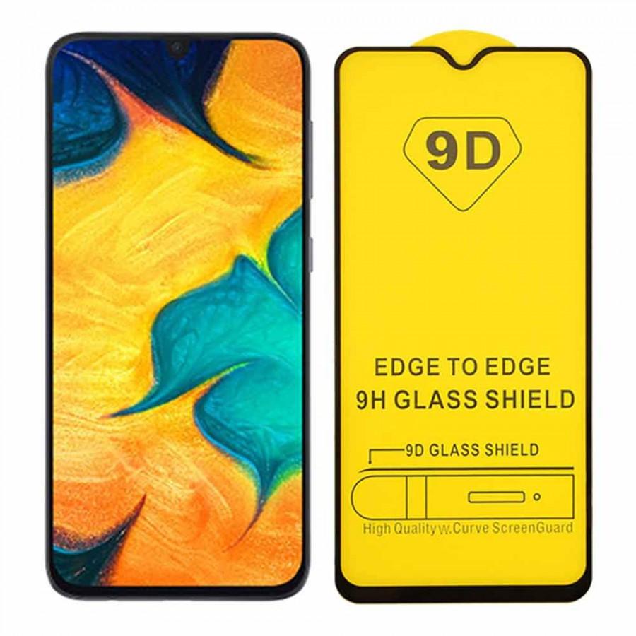 Захисне скло 9D Samsung Galaxy A70 повна проклейка твердість 9H захисне скло