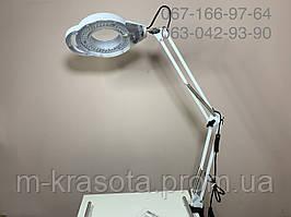 Лампа лупа с креплением к столу