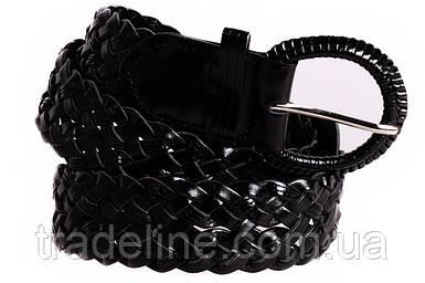 Женский плетеный ремень Dovhani PL4398575 110-115 см Черный