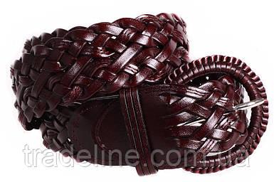 Женский плетеный ремень Dovhani PL4408576 110-115 см Коричневый