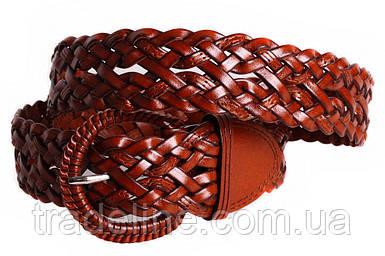 Женский плетеный ремень Dovhani PL4419577 110-115 см Коричневый