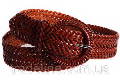 Женский плетеный ремень Dovhani PL4430578 110-115 см Коричневый