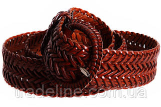 Женский плетеный ремень Dovhani PL4430578 110-115 см Коричневый, фото 2