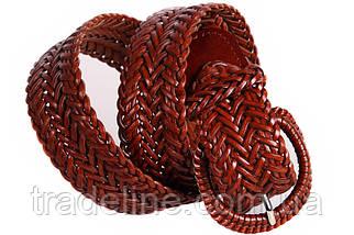 Женский плетеный ремень Dovhani PL4430578 110-115 см Коричневый, фото 3