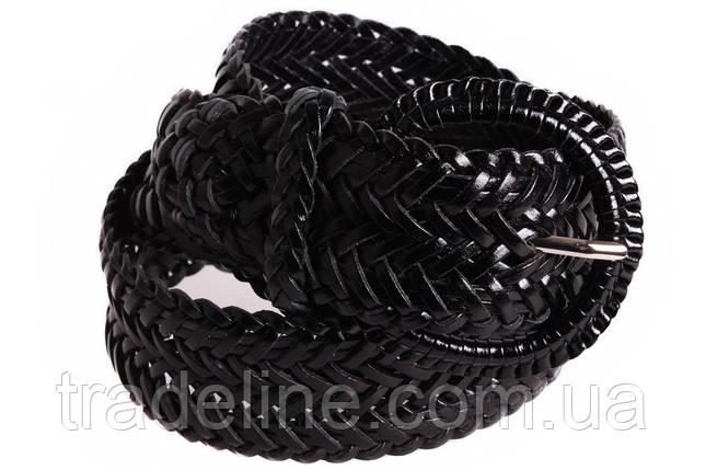 Женский плетеный ремень Dovhani PL4442579 110-115 см Черный, фото 2
