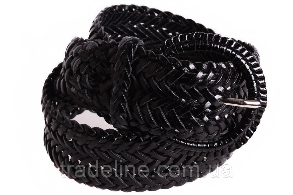 Женский плетеный ремень Dovhani PL4442579 110-115 см Черный