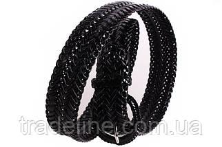 Женский плетеный ремень Dovhani PL4442579 110-115 см Черный, фото 3