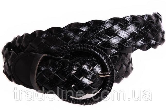 Женский плетеный ремень Dovhani PL4450580 110-115 см Черный, фото 2