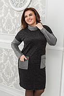 Платье большого размера / ангора, люрекс / Украина 6-921-1, фото 1