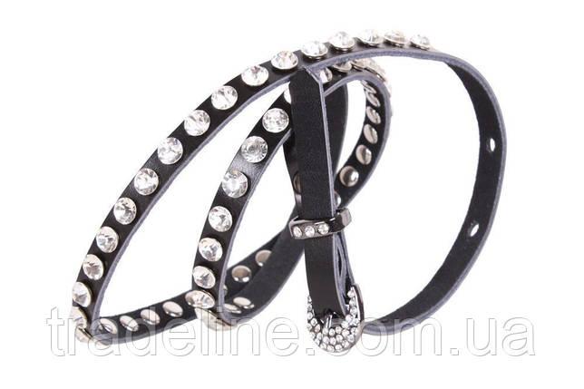 Женский ремень со стразами Dovhani ST49184600 110 см Черный, фото 2