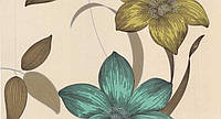 Обои бумажные Флора 112-03 салатово-бирюзовый, фото 1