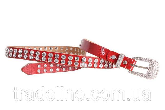 Женский ремень со стразами Dovhani ST49195606 110 см Красный, фото 2