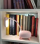 Дитяча настільна LED лампа NOUS S4 Pink 4W 2700-6500K з акумулятором, фото 7