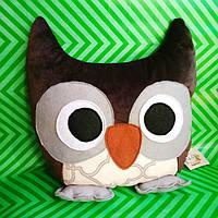 Мягкая игрушка подушка Сова ручной работы.
