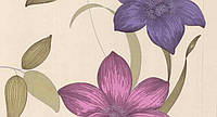 Обои бумажные Флора 112-05 розово-фиолетовый