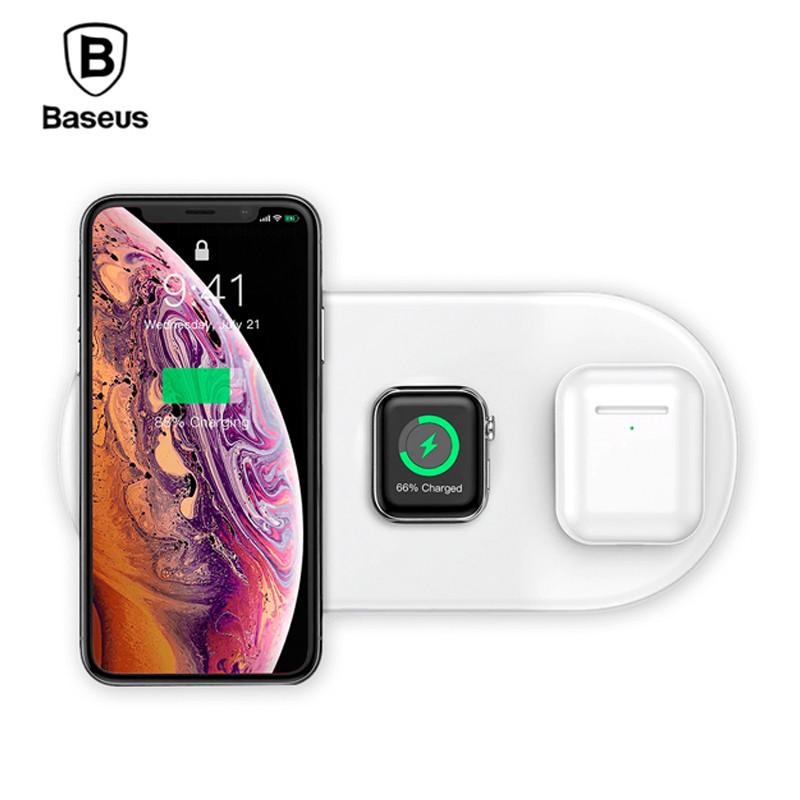 Беспроводная зарядка Baseus Wireless Charger Smart 3 в 1 WX3IN1-02 (Белое)