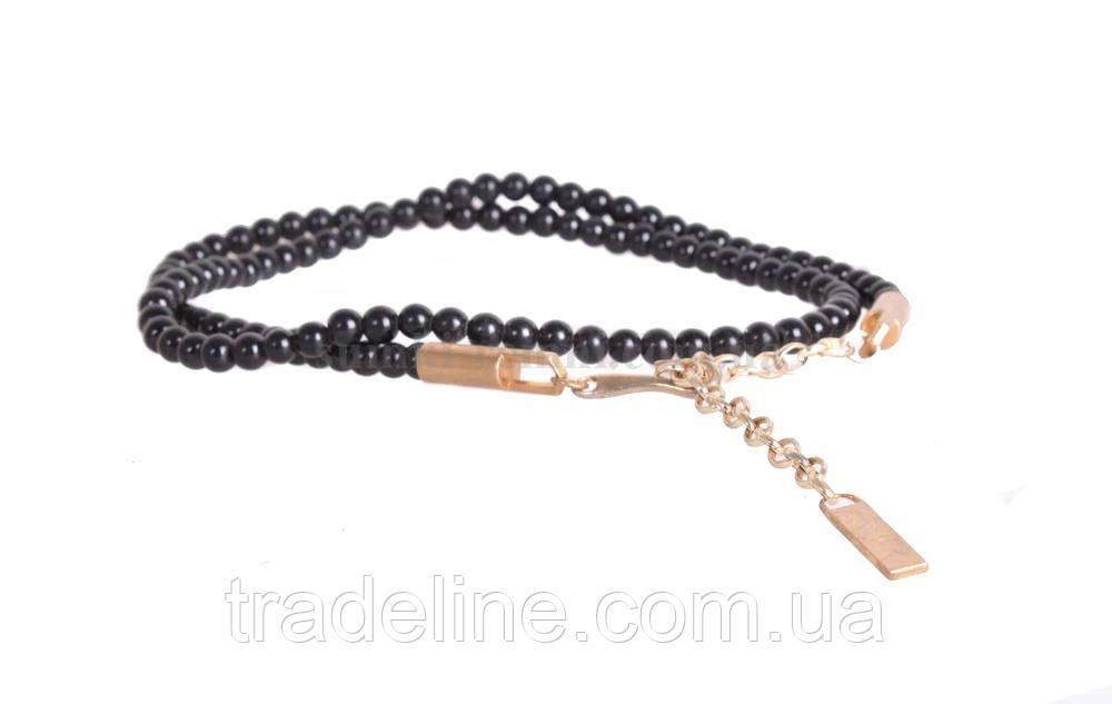 Жіночий ремінь ланцюжок Dovhani W170185621 110 см Чорна