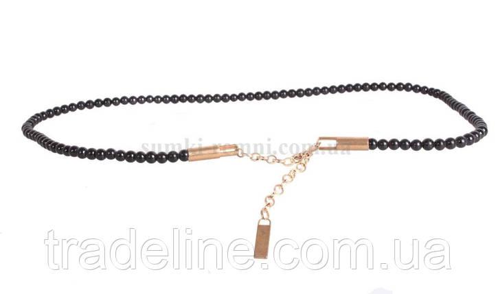 Жіночий ремінь ланцюжок Dovhani W170185621 110 см Чорна, фото 2