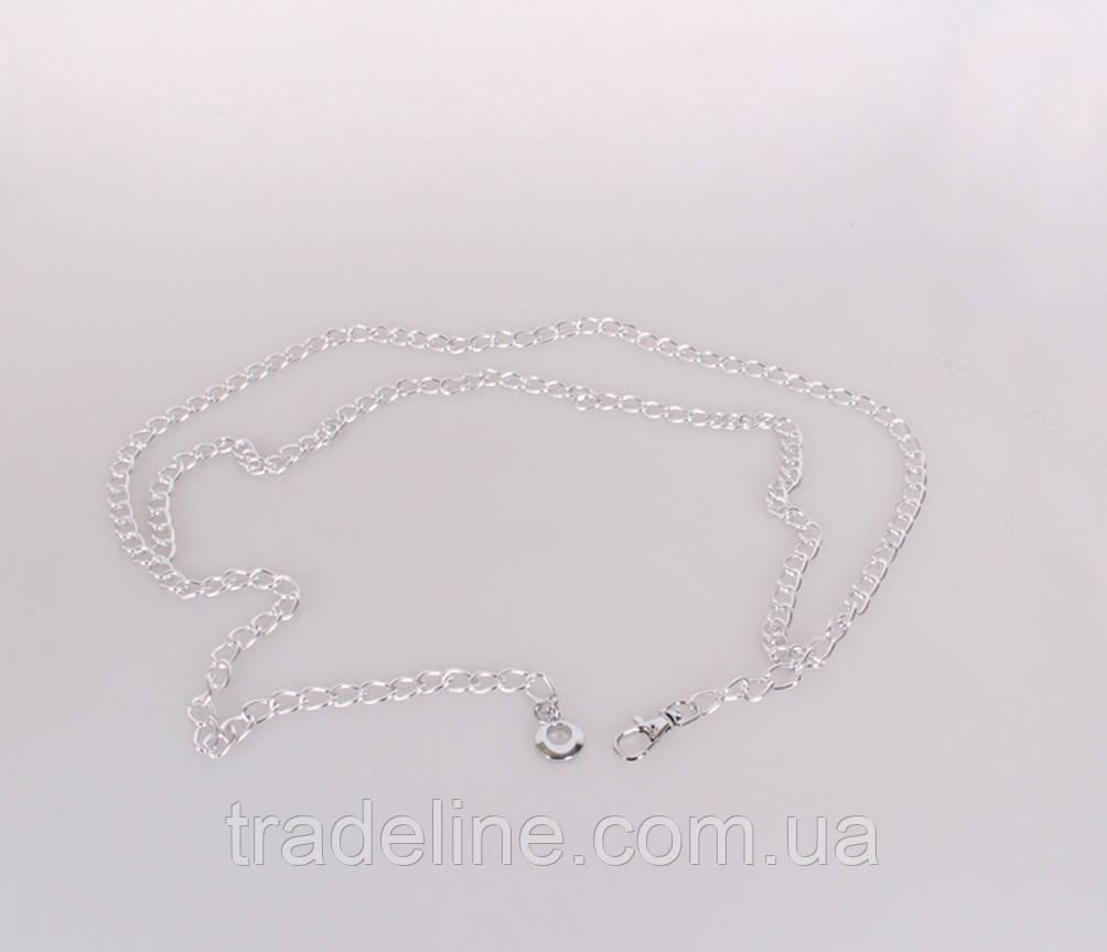 Женский ремень цепочка Dovhani W170176-2627 110 см Серебристая