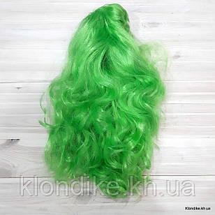 """Парик карнавальный """"Волна"""", 50 см, Цвет: Зелёный"""