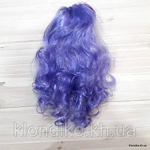 """Парик карнавальный """"Волна"""", 50 см, Цвет: Фиолетовый"""