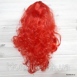 """Парик карнавальный """"Волна"""", 50 см, Цвет: Красный"""