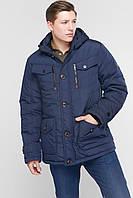 Модные мужские куртки и пуховики зимние. Цвет синий