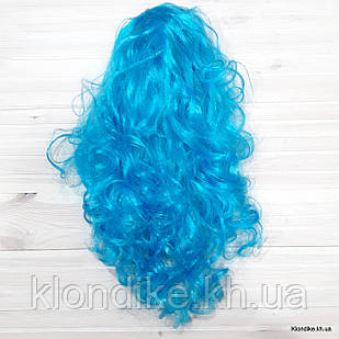 """Парик карнавальный """"Волна"""", 50 см, Цвет: Голубой"""
