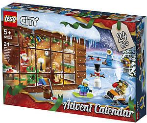 Адвент календар LEGO CITY - advent Новогодний календарь Лего 60235 LEGO Конструктор Рождественский календарь)