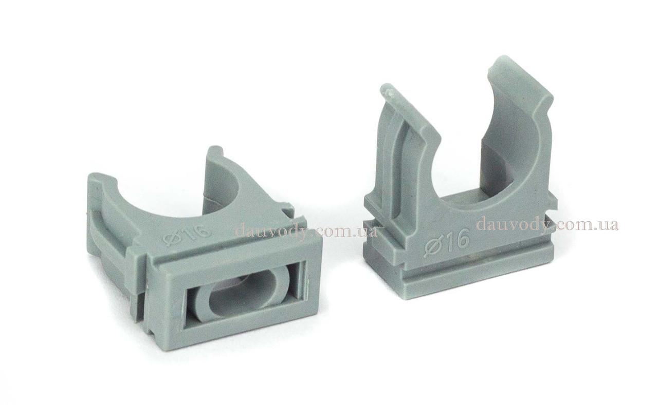 Крепеж клипса для трубы 40 мм (25 штук)
